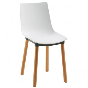 Danja Poly Chair Beech Timber Legs - Black