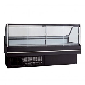 DD2000SH FED Square front glass hot deli display - DD2000SH