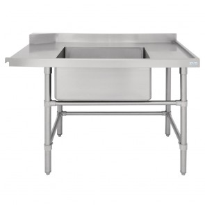 DE472 Vogue Dishwasher Inlet Table with Sink (90mm outlet) - 1200x700x960mm R/H