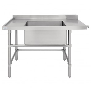 DE473 Vogue Dishwasher Inlet Table with Sink (90mm outlet) - 1800x700x960mm L/H
