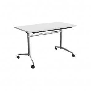 Delta Mobile Flip Top Table Chrome Frame