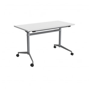 Delta Mobile Flip Top Table Silver Frame
