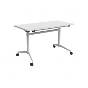 Delta Mobile Flip Top Table White Frame