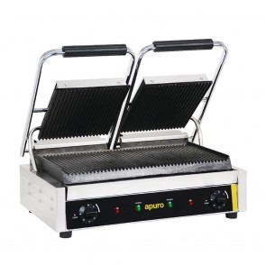 DM902-A Apuro Bistro Contact Grill - Double (Ribbed/Ribbed) - AUS PLUG