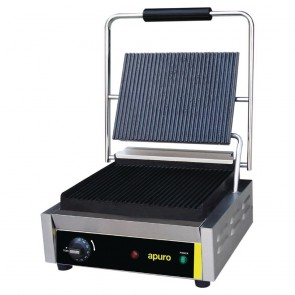 DM903-A Apuro Bistro Contact Grill - Large (Ribbed/Ribbed) - AUS PLUG