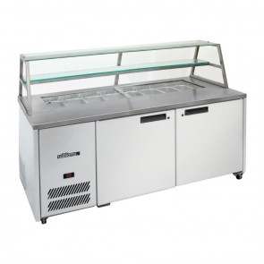 DN474 Sandwich & Prep Counter with Canopy - 500 Litre