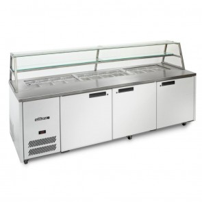 DN475 Sandwich & Prep Counter with Canopy - 775 Litre