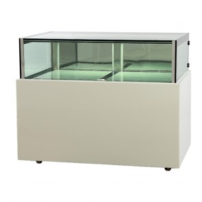 DS1200V FED White marble chocolate display With storage 1200x800x1100mm - DS1200V