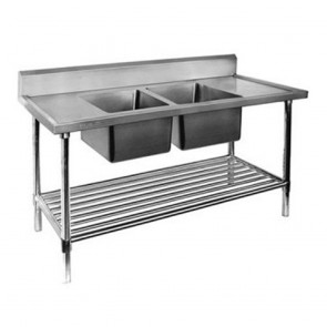 FED Double Centre Sink Bench with Pot Undershelf DSB6-1500C/A-1