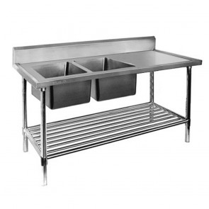 FED Double Left Sink Bench with Pot Undershelf DSB7-1500L/A