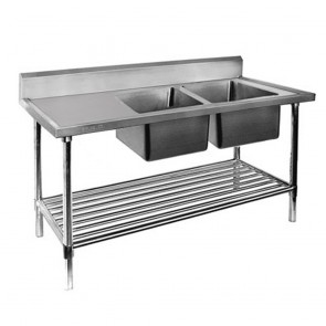FED Double Right Sink Bench with Pot Undershelf DSB7-1500R/A