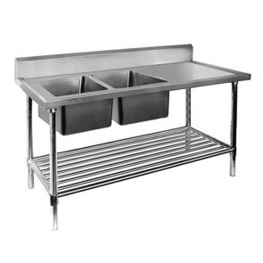 FED Double Left Sink Bench with Pot Undershelf DSB7-1800L/A-1