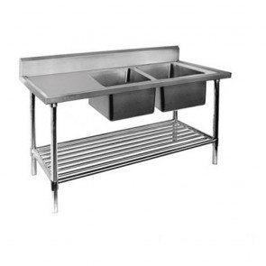 FED Double Right Sink Bench with Pot Undershelf DSB7-1800R/A-1