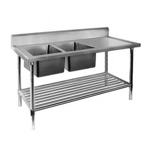 FED Double Left Sink Bench with Pot Undershelf DSB7-2400L/A