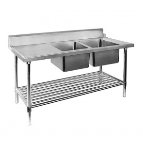 DSBD7-1800R/A Right Inlet Double Sink Dishwasher Bench