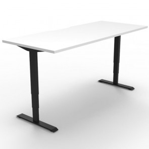 Electric Height Adjustable Standing Desk White Black