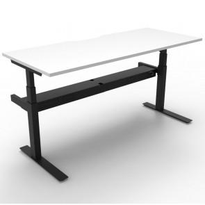 Electric Height Adjustable Workstation Desk White Black