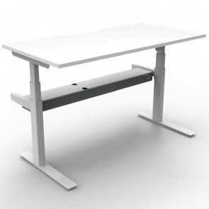 Electric Height Adjustable Workstation Desk White White