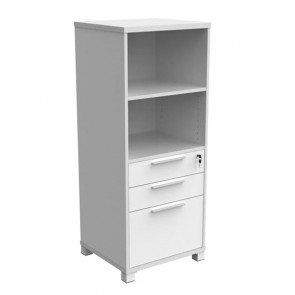 Enterprise Bookcase Tower Storage with 2 Drawers and Filing Unit