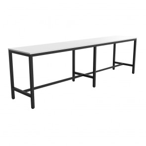 Enterprise Office Bar Height Long Table Black Frame