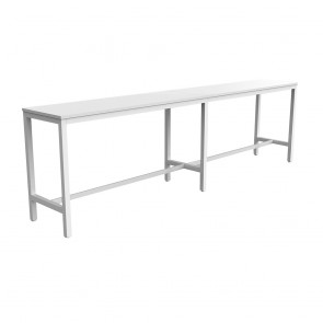 Enterprise Office Bar Height Long Table White Frame