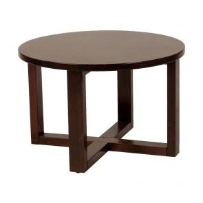 Esta Handmade Round Wood Coffee Table 70cm-Brown