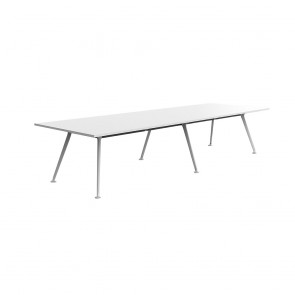 Infinity Large Boardroom Table White Legs