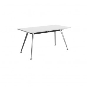Infinity Rectangular Meeting Table Chrome Legs