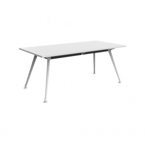 Infinity Rectangular Meeting Table White Legs