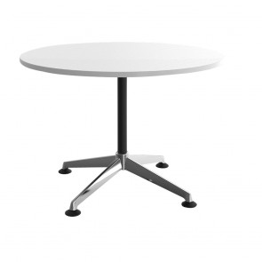 Moda Round Office Meeting Table Chrome Legs