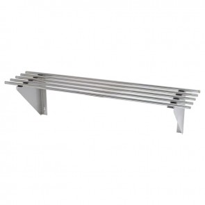 FED 1200mm Stainless Steel Pipe Wallshelf 1200-WSP1