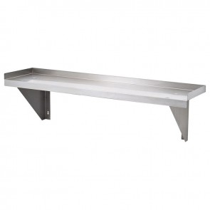 FED 1200mm Stainless Steel Solid Wallshelf 1200-WS1