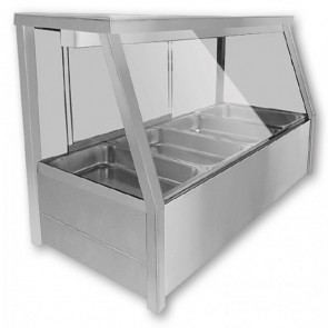 F.E.D BM11TD Heated Wet Six × ½ Pan Bain Marie Square Countertop Display