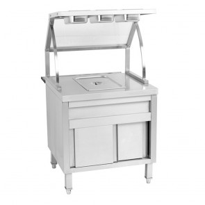 F.E.D BS1A Single Pan Heated Bain Marie Cabinet
