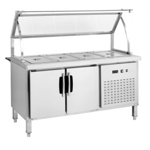 F.E.D BS5C Chilled Five Pan Bain Marie Fridge-1
