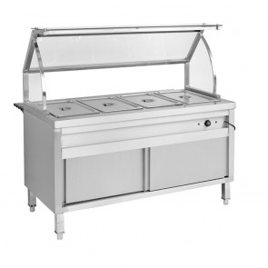 F.E.D BS5H Heated Five Pan Bain Marie Cabinet-1