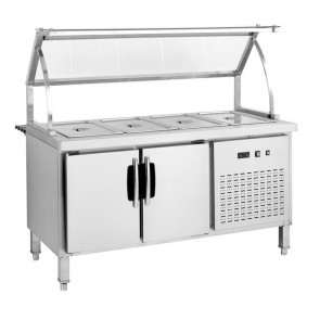 F.E.D BS6C Chilled Six Pan Bain Marie Fridge-1