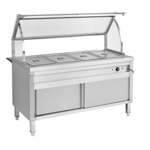F.E.D BS6H Heated Six Pan Bain Marie Cabinet-1