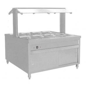 F.E.D BS8H Heated Buffet Bain Marie Centre Servery
