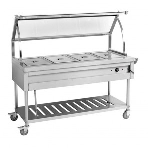 F.E.D BST5H Heated Five Pan Food Service Cart-1