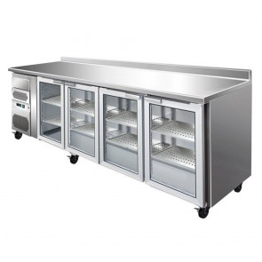 F.E.D CM25G TROPICALISED four door Bar Fridge