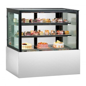 FED Commercial Cake Display with 2 shelves SSU120-2XB
