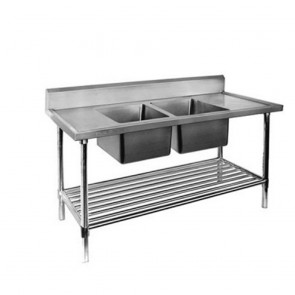 FED Double Centre Sink Bench with Pot Undershelf DSB6-1200C/A