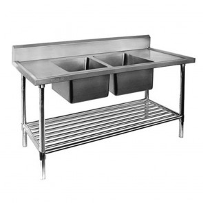 FED Double Centre Sink Bench with Pot Undershelf DSB6-1800C/A-1