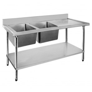 FED Economic 304 Grade SS Left Single Sink Bench 1200x700x900 with 400x400x250 sink 1200-7-SSBL
