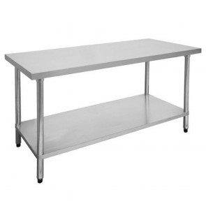 FED Economic 304 Grade Stainless Steel Table with splashback 1200x600x900 1200-6-WBB
