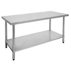 FED Economic 304 Grade Stainless Steel Table with splashback 1200x700x900 1200-7-WBB