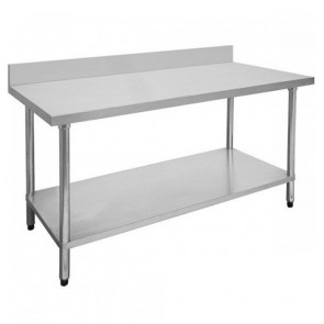 FED Economic 304 Grade Stainless Steel Table with splashback 2100x600x900 2100-6-WBB