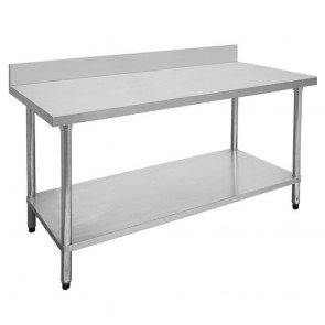 FED Economic 304 Grade Stainless Steel Table with splashback 2400x600x900 2400-6-WBB