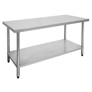 FED Economic 304 Grade Stainless Steel Table with splashback 900x600x900 0900-6-WBB
